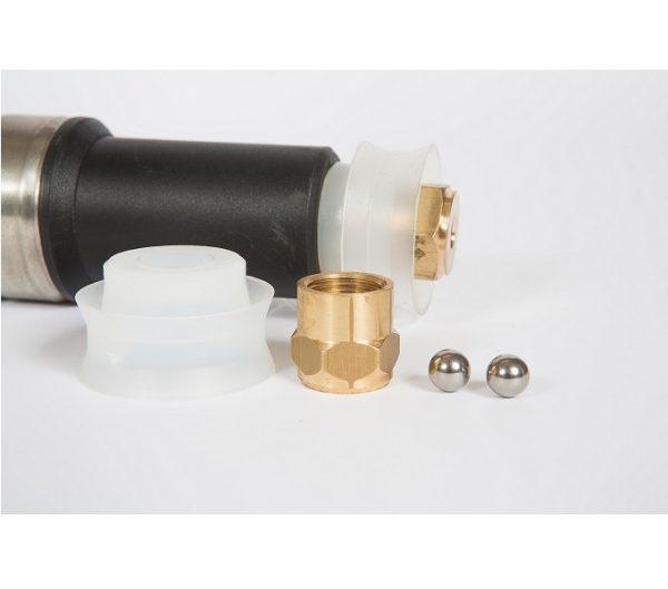 Dettaglio pompa irroratrice a spalla da 16 litri Unispray Professional Carpi